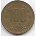 100 песо. 1997 г. Чили. 2-7-65