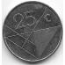 25 центов. 2002 г. Аруба. 1-3-61