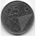 25 центов. 2001 г. Аруба. 1-3-64
