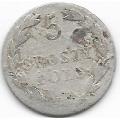 5 грошей. 1826 г. Российская империя для Польши. Серебро. 9-3-311