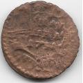 Полушка. 1731 г. Перечекан с копейки Петра II 1728-1729 гг. 11-4-444