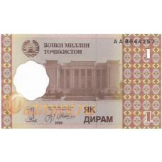 Таджикистан. 1 дирам. 1999 г. Б-2043