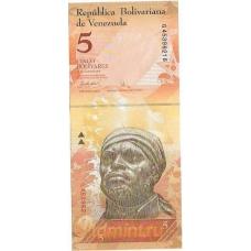 Венесуэла. 5 боливаров. 2007 г. Б-2057