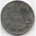 5 центов. 2000 г. Багамские острова. Ананас. 8-2-529