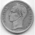 1 боливар. 1954 г. Венесуэла. С.Боливар. Серебро. 9-1-1564