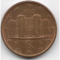 1 евроцент. 2007 г. Италия. 8-5-483