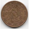 1 евроцент. 2011 г. Австрия. 8-5-487