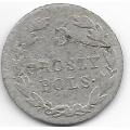 5 грошей. 1821 г. Российская империя для Польши. IB. Серебро. 9-1-1572