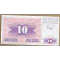 Босния и Герцеговина. 10 динаров. 1992 г. Б-2076
