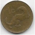 1 цент. 1991 г. Мальта. Ласка. 5-4-539