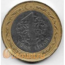 1 лира. 2012 г. Турция. 5-5-716