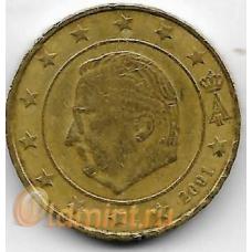 10 евроцентов. 2001 г. Бельгия. 5-5-717