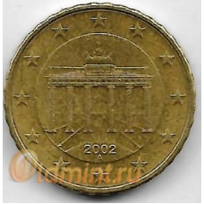"""10 евроцентов. 2002 г. Германия. """"A"""". Бранденбургские ворота. 5-5-719"""
