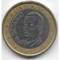1 евро. 2007 г. Испания. Хуан Карлос I де Бурбон. 5-5-721