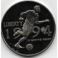 1/2 доллара. 1994 г. США. Чемпионат мира по футболу. 10-4-844