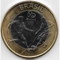 1 реал. 2015 г. Бразилия. Футбол. 19-2-385