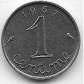 1 сантим. 1967 г. Франция. 19-3-336