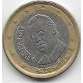 1 евро. 2005 г. Испания. Хуан Карлос I де Бурбон. 12-2-798