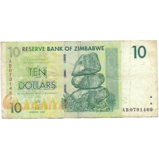 Зимбабве. 10 долларов. 2007 г. Б-2162