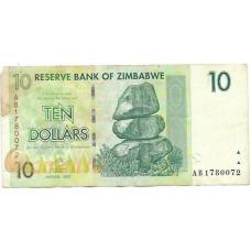 Зимбабве. 10 долларов. 2007 г. Б-2164