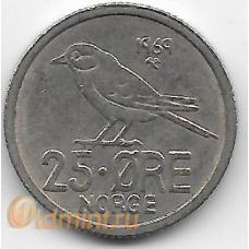 25 эре. 1969 г. Норвегия. Птица. 7-1-690