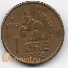 1 эре. 1969 г. Норвегия. Белка. 7-1-691