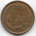 1 цент. 1966 г. Австралия. Опоссум. 7-3-591