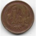 1 цент. 1966 г. Австралия. Опоссум. 7-3-594