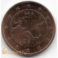5 евроцентов. 2018 г. Эстония. 7-3-599