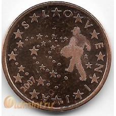 5 евроцентов. 2007 г. Словения. 7-3-601