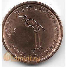 1 евроцент. 2015 г. Словения. 7-3-602