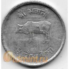 5 пайсов. 1974 г. Непал. Корова. 6-1-827