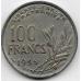 100 франков. 1955 г. Франция. «B». 3-9-105