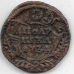 Полушка. 1734 г. Перечекан с крестовой копейки Петра II 1728-1729 гг. 3-9-106