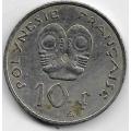 10 франков. 2006 г. Французская Полинезия. 3-9-118