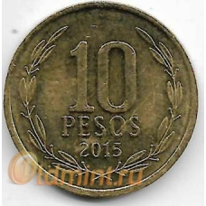 10 песо. 2015 г. Чили. 3-6-43