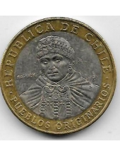 100 песо. 2012 г. Чили. 3-6-46