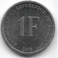 1 франк. 2003 г. Бурунди. 3-0-22