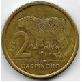 2 песо. 2011 г. Уругвай. Капибара. 3-0-43