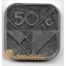 50 центов. 2008 г. Аруба. 3-0-44
