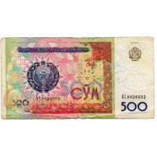Узбекистан. 500 сум. 1999 г. Б-2233