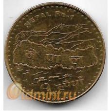 1 рупия. 2009 г. Непал. Карта, Эверест. 3-0-64