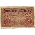 Германия. 20 марок. 1918 г. Б-2244