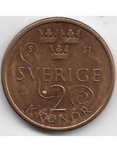 2 кроны. 2016 г. Швеция. 2-6-64