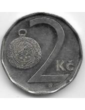 2 кроны. 2002 г. Чехия. Гомбик. 2-6-81