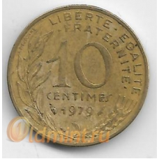 10 сантимов. 1979 г. Франция. 1-8-104