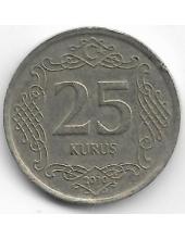 25 курушей. 2010 г. Турция. 1-8-107
