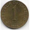 1 шиллинг. 1990 г. Австрия. Эдельвейс. 14-1-906