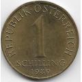 1 шиллинг. 1989 г. Австрия. Эдельвейс. 14-1-910