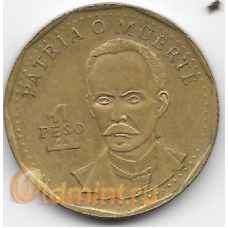 1 песо. 1994 г. Куба. Хосе Марти. 14-1-920